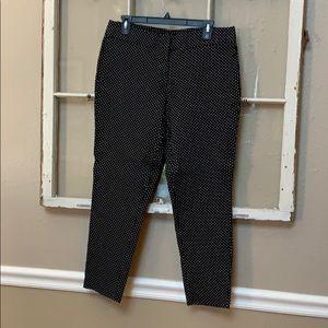 Capri black polka dot pants